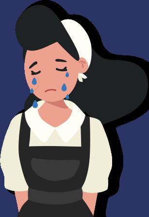 울고 있는 아줌마