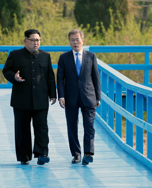김정은 북한 국무위원장과 문재인 대통령