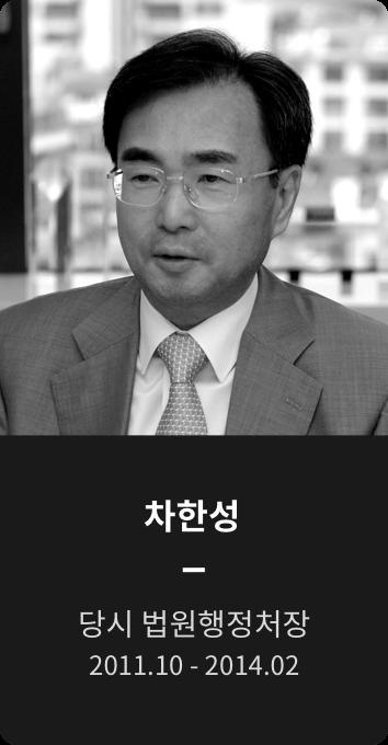 차한성 당시 법원행정처장